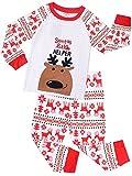 Pijamas de Navidad Unisexo Camisetas Algodón Manga Larga Traje de Dormir