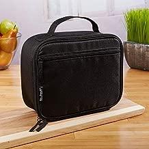 مقاس مناسب & Fresh صندوق غداء معزولة سفر ناعمة الجوانب لحمل للأطفال والكبار ، خفيف الوزن ، للتسرب ، خال ٍ من BPA ، أسود كلاسيكي