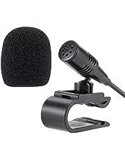 Lling(TM) 3.5mm Conjunto de micrófono externo Micrófono para la unidad principal del vehículo del automóvil Bluetooth Radio estéreo GPS DVD