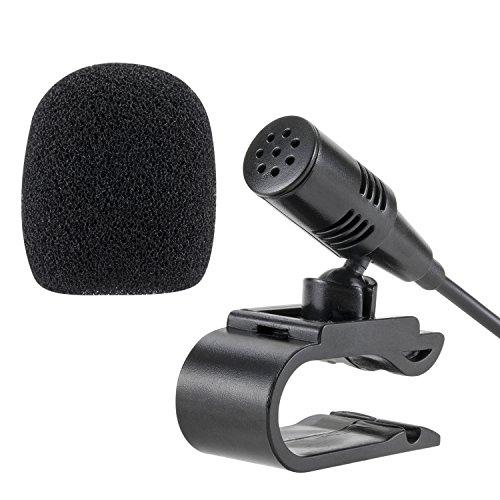 Lling(TM) 3,5 mm externes Mikrofon für Auto- und Fahrzeugkopfeinheit mit Bluetooth-fähigem Stereo, Radio, GPS und DVD