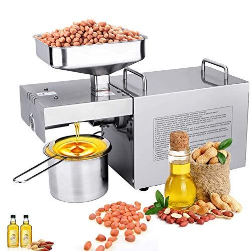 Tornillo Extrusora de aceitunas Máquina de prensado de aceite eléctrico Comestibles comestibles Comerciales Semillas de nueces sanas Extractor automático de aceite Frío/Caliente 220V