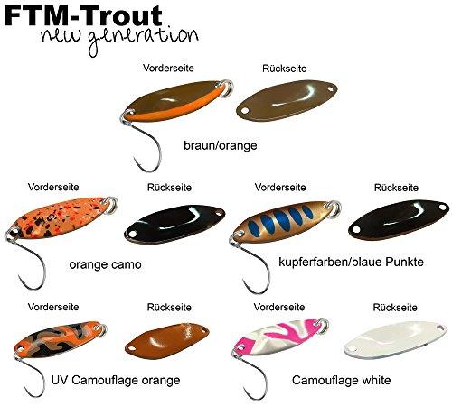 5 FTM Spoon Tango 1,8g - Spinnköder Set, Forellenblinker zum Spinnfischen, Forellenköder zum Spinnangeln, Blinker für Forellen, Löffelblinker