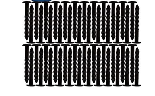 Window Pro Shutters Panel Peg Lok Pin Screws Spikes 3 inch 60 Pack (Black) Exterior Vinyl Shutter Hardware Strongest Made in USA