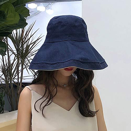 Geiqianjiumai vishoed met haakpatroon, vishoed voor Marea, vrouwelijke vishoed, wit, dubbelzijdige hoed, zwart M (56-58 cm)