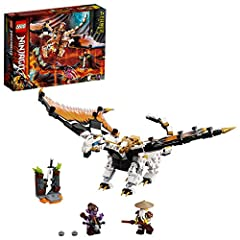 Awesome LEGO NINJAGO Wu's Battle Dragon (71718) toy and 2 minifigures to recreate action from the NINJAGO TV series; The ideal gift for NINJAGO fans or kids who enjoy plotting their own dragon adventures with fun toys This dragon playset includes a B...