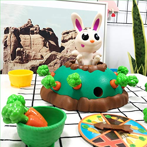 TOPCOMWW Puzzle Board Game Electric Jumping Rabbit Carrot Game Desktop Birthday Party Parent-Child Interaction Toy Kids Puzzle Game