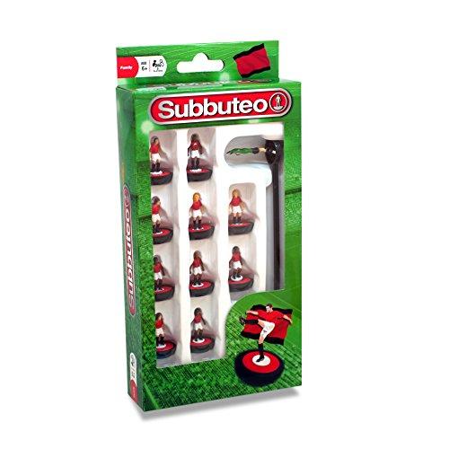 Subbuteo 3415 - Juego de Jugadores, Color Rojo, Blanco y Negro