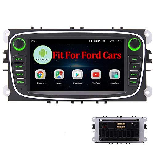 EINCAR Autoradio Android 10.0 con Bluetooth 2 DIN Navigazione GPS Stereo per Auto Doppio DIN Head Unit FM/AM/RDS Ricevitore Radio WiFi USB SD Specchio SWC per Ford Focus 2009 2010 2011 Canbus
