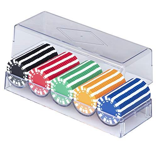 ALBAN 本格カジノポーカーチップ +スペア各1枚付 / 直径40mm / 5色(各色20枚、計100枚セット)