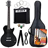 Rocktile Banger's Pack Single Cut guitarra electronica Set, 7-piezas negro