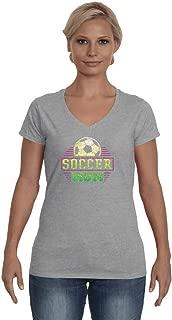 Soccer Mom v Neck t Shirt