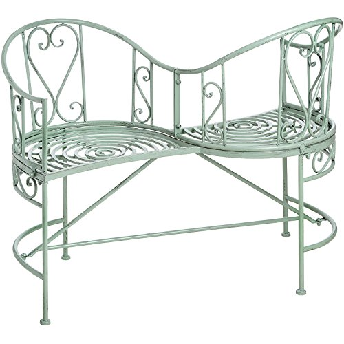 Lovely Country Style Garden Loveseat Bench in Duck Egg Blue