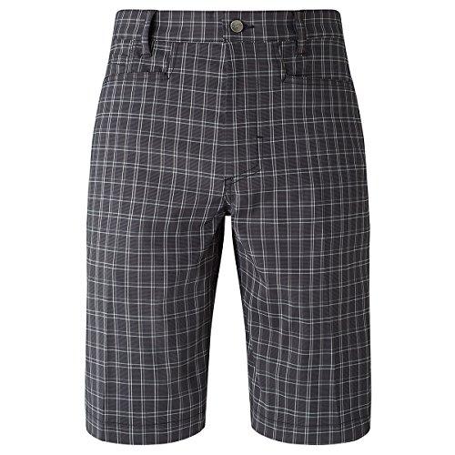 Callaway Micro Plaid Short Pantalón Corto de Golf, Hombre, Negro, 36