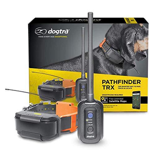 Dogtra Pathfinder TRX 21-Dog erweiterbares wasserdichtes Smartphone GPS-Only Tracking Halsband mit 2-Sekunden-Update-Rate, keine Abonnementgebühr, kostenlose Satellitenkarte
