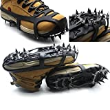 Item Type: 18 Teeth Antislip Ice Snow Shoe Spikes Mountaineering Hiking Crampons Color: As Shown in the Picture Package Contain: 1Pc x 18 Teeth Antislip Ice Snow Shoe Spikes Mountaineering Hiking Crampons