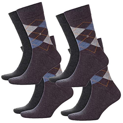 Burlington Herren Socken Everyday Mix 4er Pack, Größe:40-46, Farbe:Anthracite Melange (3081)