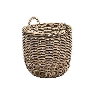 Kouboo 1060109 Rattan Kobo Round Storage Basket, Gray