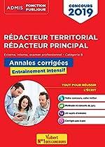 Concours Rédacteur territorial et rédacteur principal - Annales corrigées - Catégorie B - Concours externe, interne et 3e voie - Concours 2019 d'Olivier Bellégo