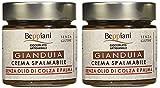 BEPPIANI – Crema Spreadable Gianduia – Juego de 2 tarros de 250 gr.– SIN GLUTEN – Chocolate Hecho A Mano