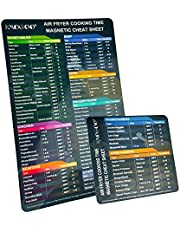 I-MOGOO Air Fryer Magnetische Cheat Sheet Set, Cook Times Chart Air Fryer Accessoires Instant Pot Cheat Sheet, Magneet Sheet Quick Reference Guide voor koken en braden