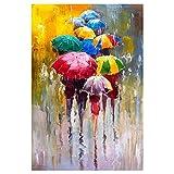 Chicas abstractas con estampado de paraguas en lienzo carteles artísticos impresiones arte moderno lienzo de pared cuadros de pintura decoración del hogar 40X60cm sin marco