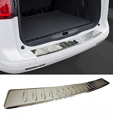 Fahrzeugspezifischer Ladekantenschutz mit Abkantung Edelstahl Chrom