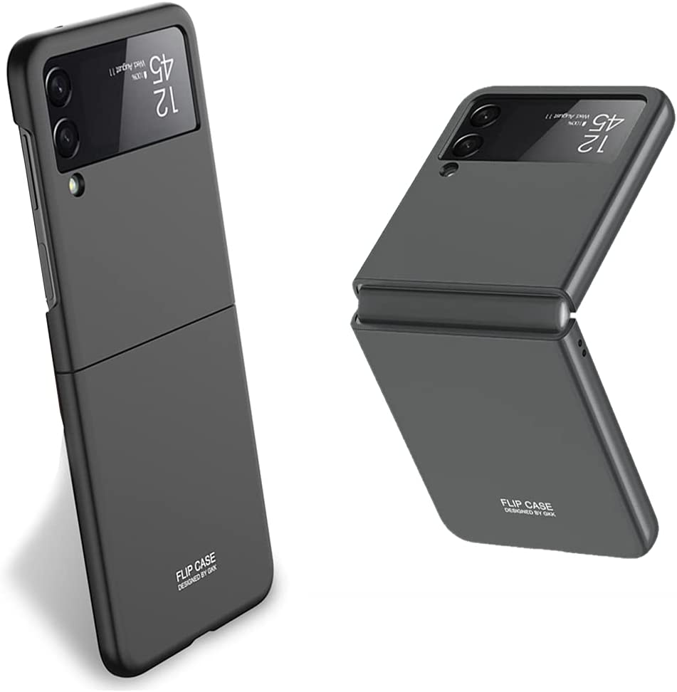 Ultra-Slim Case for Samsung Galaxy Z Flip 3, Hard PC Shockproof Case for Galaxy Z Flip 3 (Black)