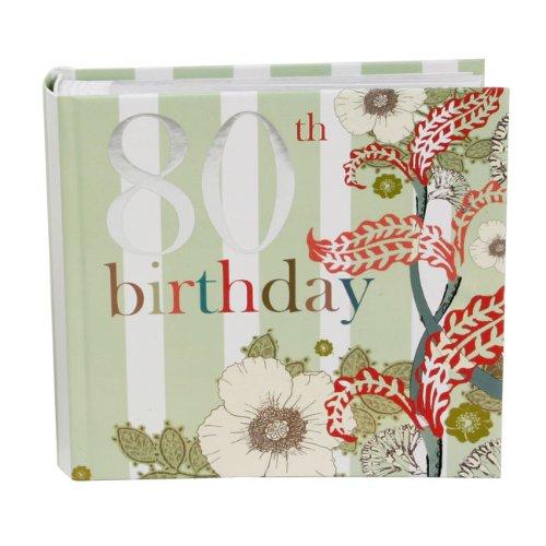 Laura Darrington @ Occasions Direct - Album fotografico con scatola, motivo floreale, 80° compleanno
