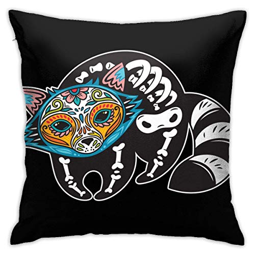 SSHELEY Pillow Cases Animals Skull Fox Throw Pillow Cover Decorative Pillowcases 18x18 Inch