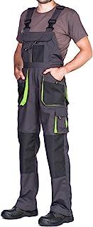 comprar comparacion Pantalones de Trabajo para Hombre, Pantalon de Seguridad, Pantalones con Peto de Trabajo para Hombre, Ropa Hombre, Bolsill...