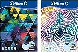 Pelikan Zeichenblock, A4 20 Blatt, Deckblatt mit Motiv sortiert 120g 5er Pack