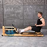 TRUNK Water Rowing Machine for Home Gym Fitness, Classic Solid Wood Water Rower with Bluetooth...