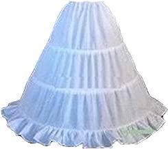 Udresses Girls Flower Girl Petticoat Childrens 3 Hoop Underskirt Slips UP002