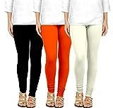 Ancientstar Chudidar Cotton Leggings for Womens/Girls/Ladies (Pack of 3)...