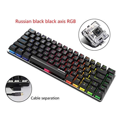 AK33 Mechanische Gaming-Tastatur mit 82 Tasten, RGB-Hintergrundbeleuchtung, Schwarz / Blau / Rot 12