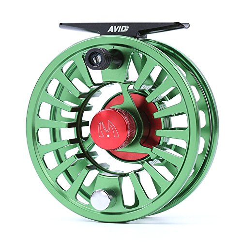 M MAXIMUMCATCH Maxcatch Fly Fishing Reel with CNC-machined Aluminum Body Avid Series Best Value - 1/3, 3/4, 5/6, 7/8, 9/10 Weights(Black, Green, Blue, Silver, Black&Silver) (Green, 5/6 wt)