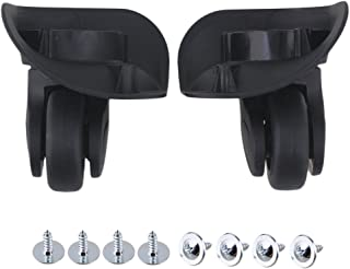 BQLZR 9.1cmx10.7x4.9cm Black Plastic Left & Right Luggage Swivel Universal Wheels Replacement Pack of 2 (See Size Picture)
