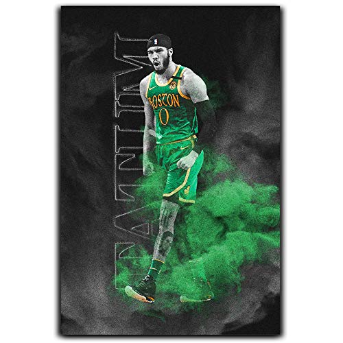 Jayson Tatum Boston Celtics Canvas Art Poster Wall Art Gifts Basketball NBA Star Help Keep The Celtics' Season Alive Eastern Conference Finals 24x36 Inch