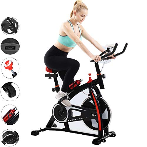 Price comparison product image Exercise Cycling Bike,  Home Fitness Bicycle,  Indoor Silent Bicycle,  Stationary Bike Multi-Function Monitor Ultra-quiet Home Bicycle (Black)