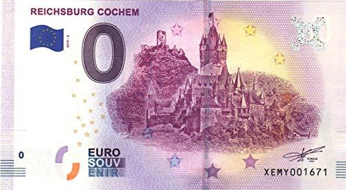 0 Euro Schein Reichsburg Cochem - Null Euro Souvenier Banknote mit verschiedenen Sehenswürdigkeiten