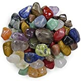 Hypnotic Gems 2 Pounds Brazilian Tumbled Polished Natural Stones Assorted Mix - Small Size - 0.75' to 1.25' - Average 1'
