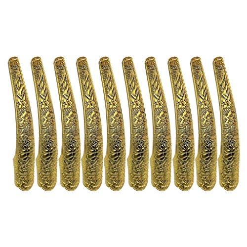 Bonarty 10 Stücke Chinesische Königin Alte Vintage Gold Klaue Biegen Gemeinsame Rüstung Fingernagel Ring Frauen Kostüm Zubehör 11,5 cm