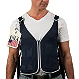 Cooling Vest for Men & Women Made in USA | 4 x Gel Ice Pack | Lightweight Ice Shirts for Motorcycle, Mascots Suit, MS,...