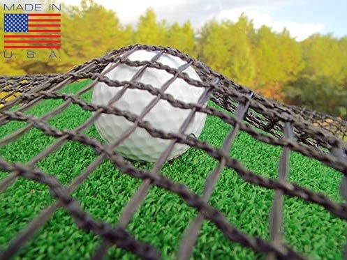 NETTEXX Golf Practice Hitting Net - Commercial Quality Impact Netting for Your Own Custom Driving Range in The Backyard or Garage (UV Treated for Indoor or Outdoor Use) (10, 10)
