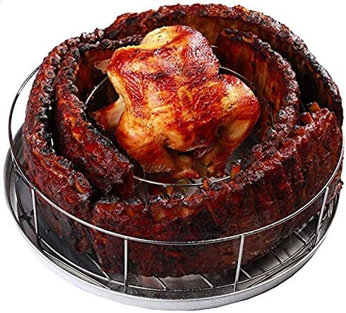 BBQ Guru Rib Rings Rack for New product! New type Grillings 5 Holds Ribs Smoking Excellence