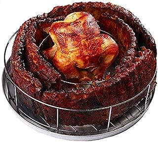 BBQ Guru Rib Rings - Rib Rack and Chicken Roaster for Smoking on Weber, Green Egg, Kamado Joe, Vision, Grill Dome, Primo Grills