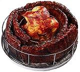 BBQ Guru Rib Rings | Rib Rack for Smoking/Grillings Holds 5 Ribs and a Whole Chicken
