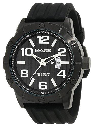 Lancaster Reloj de hombre con banda de silicona Fecha 10bar ola0479nr