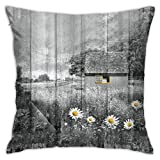 AOOEDM Daisy Flowers Home Fall Throw Pillow Covers 18x18 Decorativo para Cama Sofá Cojín Sofá Funda de Almohada