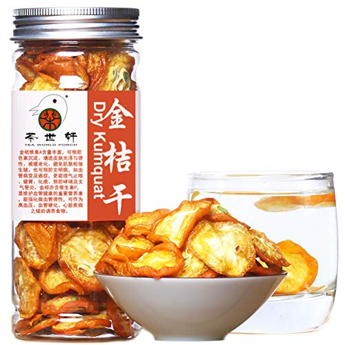 Plant Gift Dried Kumquat, Fruit Tea, 100% Natural Organic Green Food Kumquat Dry, Flower Tea, Scented Tea, Health Care, Healthy 120g / 4.23oz